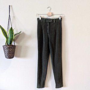 Jil Sander Olive Green Corduroy Skinny Leg Trouser